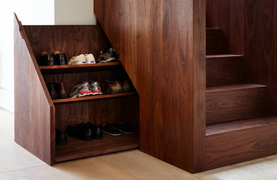 Shoes Storage in Stairs